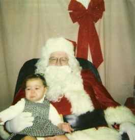 Gracie face & Santa